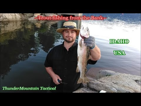 How To Catch Rainbow Trout Bank Fishing~Idaho USA