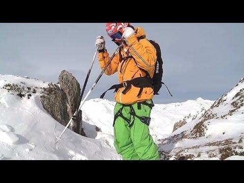 Lawinenunglück gefilmt - Skiunfall - Lawine