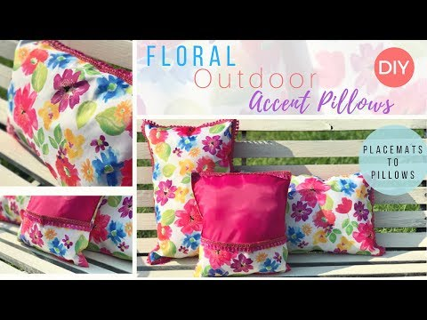 Dollar Tree Placemats Turned Into Floral Pillows | DIY Floral Challenge | Dollar Tree DIY 🌸🌼🌞