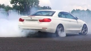 bmw 435i in action review acceleration onboard autobahn sound f33 cabrio donuts burnout