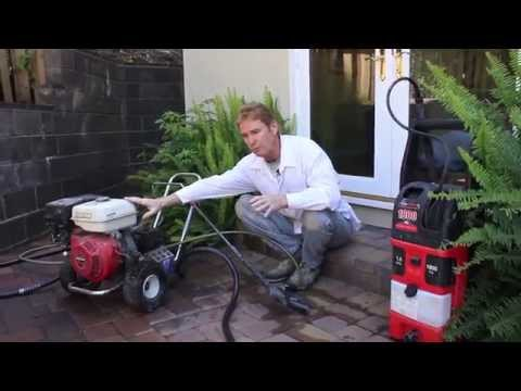 Pressure or power Washing for Cleaning Cinder blocks