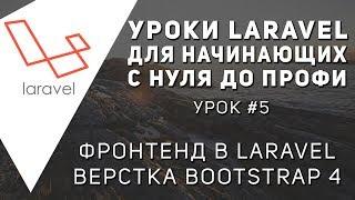 Уроки Laravel - Верстка Bootstrap 4 ,Фронтенд