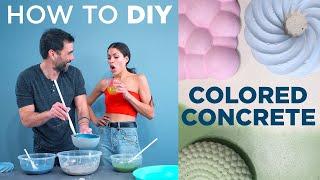 How to DIY C๐lored Concrete with Ben Uyeda and Rachel Metz