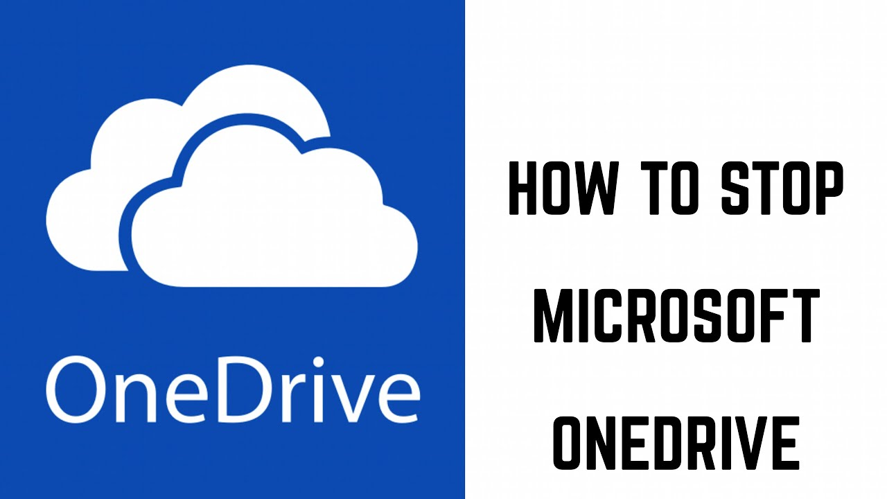 how to stop microsoft onedrive