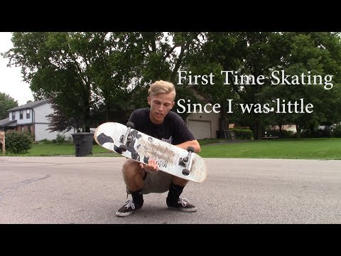 My First Time Skateboarding!