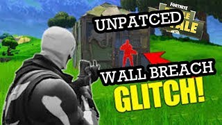FORTNITE WALL BREACH GLITCH! - SPY ON YOUR ENEMIES!