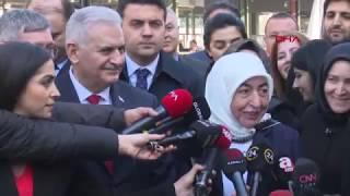 Binali Yıldırım hızlı tren ile geldiği İstanbul& 39 da açıklama yaptı