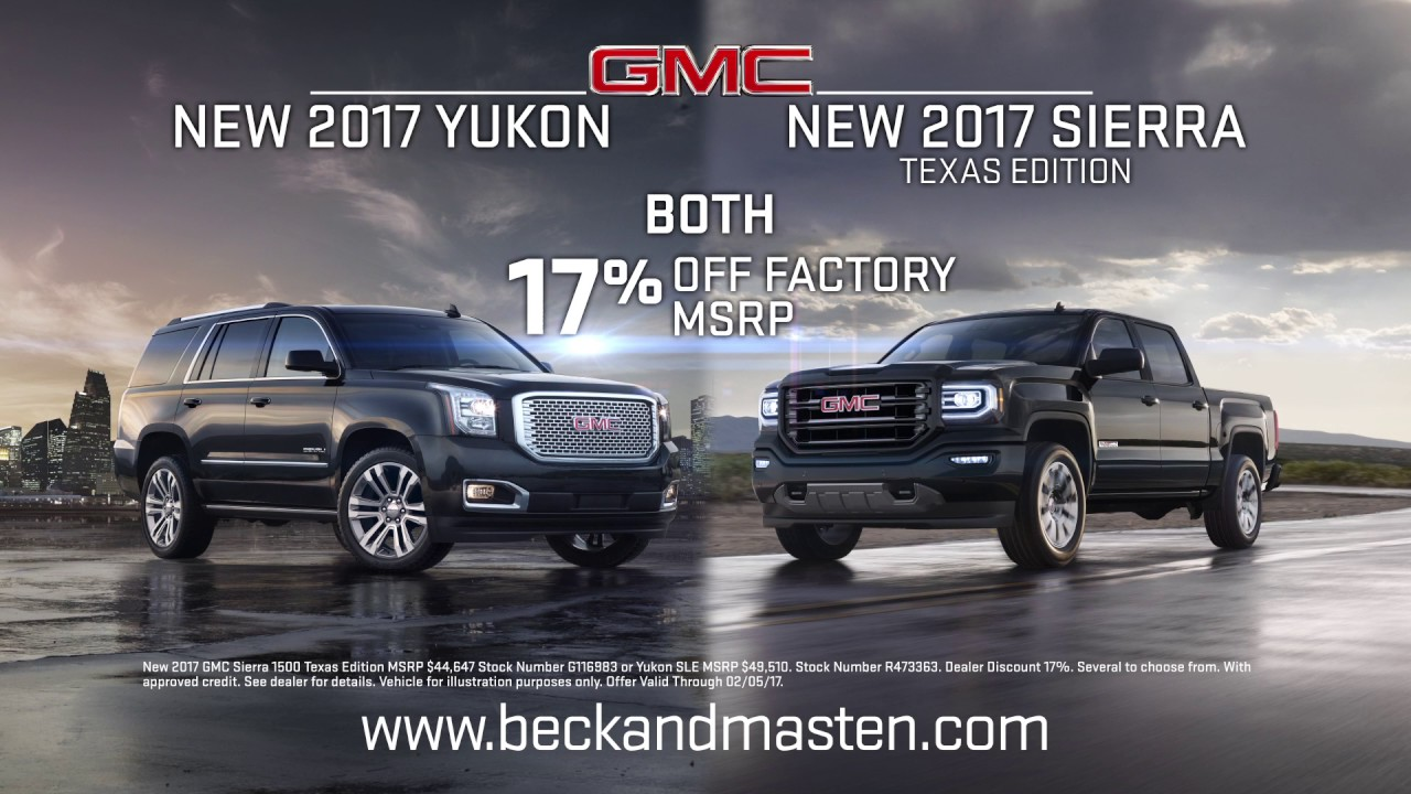 Beck Masten North   2017 Yukon   2017 Sierra Texas Edition   YouTube Beck Masten North   2017 Yukon   2017 Sierra Texas Edition