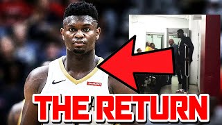 HUGE INJURY UPDATE! ZION WILLIAMSON IS BACK AND READY TO PLAY