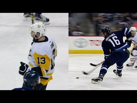 Jets & Penguins score 25 seconds apart in wild back-and-forth action