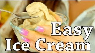 Easy 2 Ingredient Healthy Ice Cream! | Food Bites