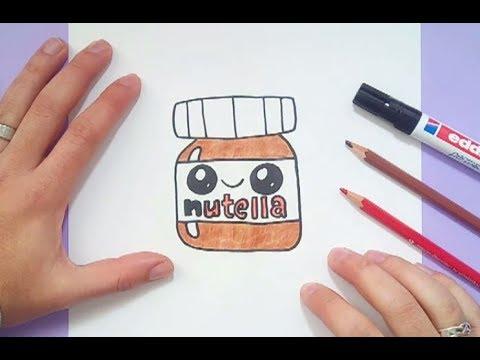 Como Dibujar Nutella Kawaii Paso A Paso How To Draw Nutella Kawaii