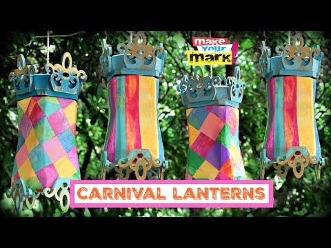 Carnival Lanterns DIY (Upcycled Jars)