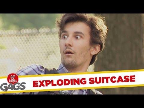 Exploding Suitcase Prank
