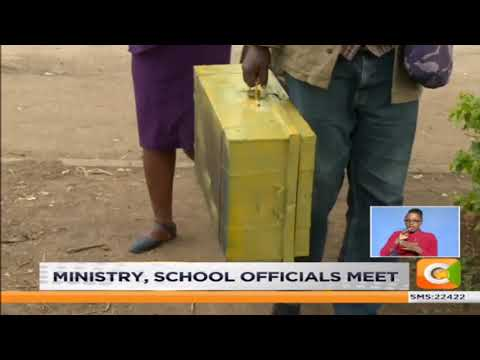 Ministry of education and Starehe boys centre school officials meet