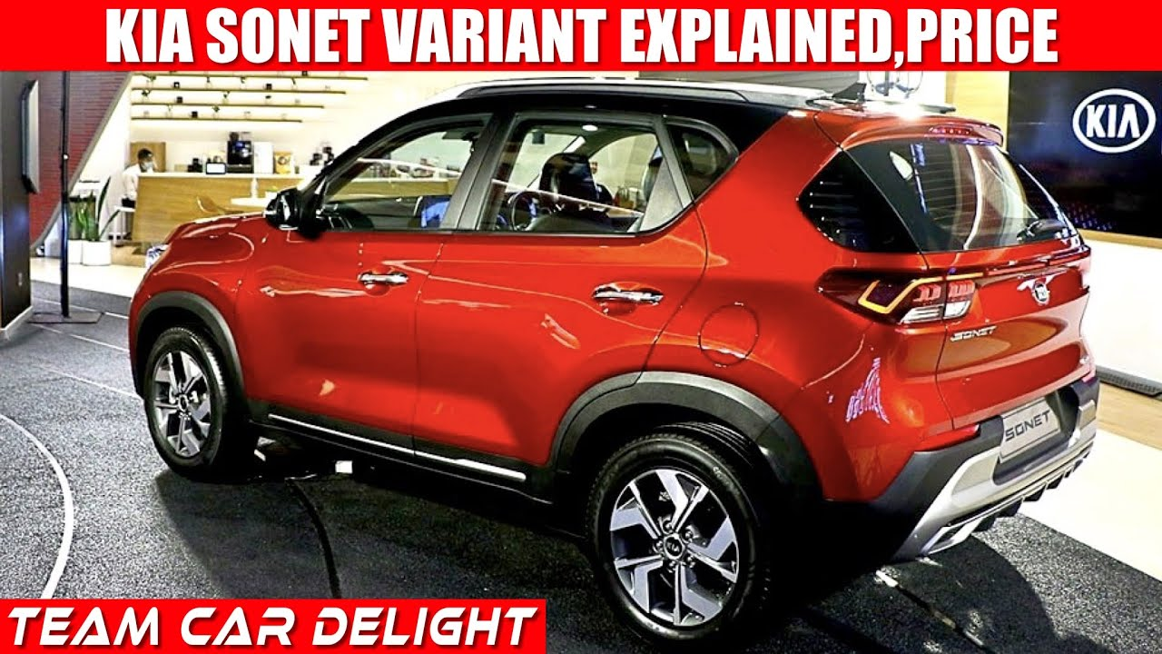 2020 Kia Sonet Base To Top Model Price Review New Features Interior Mileage Sonet 2020 India Youtube