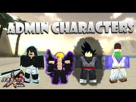 Admin Characters Showcase Roblox Anime Cross 2 Youtube