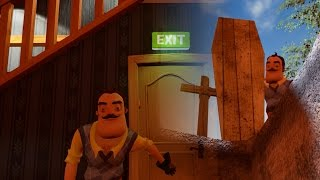 PAID THE ULTIMATE PRICE FOR GOING IN THE BASEMENT - Hello Neighbor (New Update Alpha 1 ENDING)