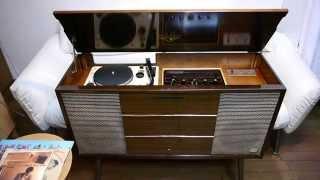 ビクターHiFiオーディオラ真空管ステレオ BR-310(STL-310)で、レコードを再生してみました