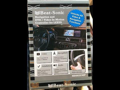 Install DVD/Navigation Beatsonic Bypass 2014 Lexus LS460