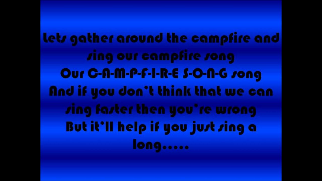 SPONGEBOB-CAMPFIRE SONG (LYRICS) - YouTube