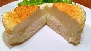 белковый омлет со сметаной запеченный / рецепт приготовления