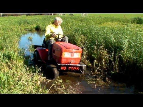 Lawn Mower Racing >> Lawn tractor fun - YouTube