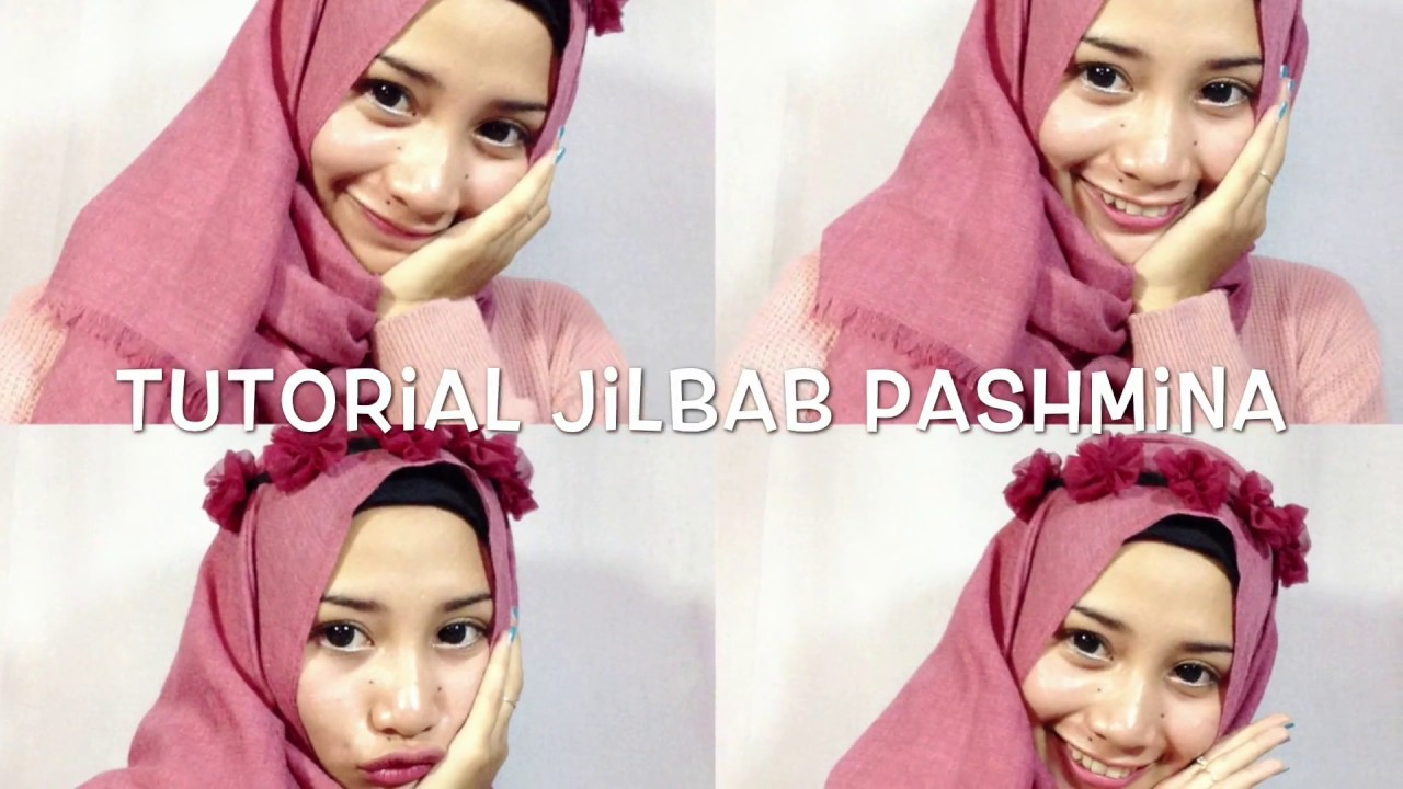 Tutorial Hijab Pashmina Diamond Simple