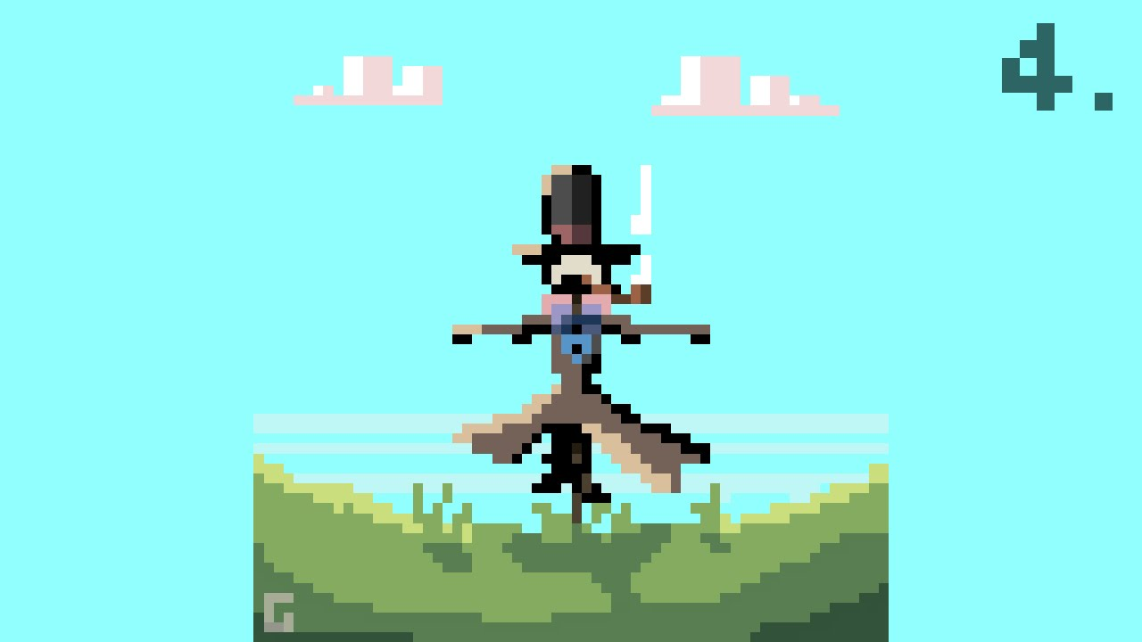 "Pixel ""Daily"" - 004 - Scarecrow from Howl's Moving Castle ...
