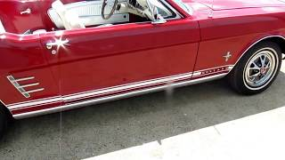 1966 FORD MUSTANG HARDTOP RETRACTABLE CONVERTIBLE: EXTREMELY RARE! $24500