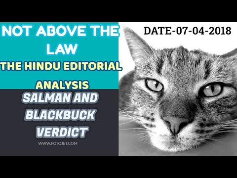 NOT ABOVE THE LAW THE HINDU EDITORIAL ANALYSIS