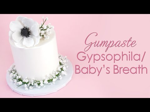 How to make Gumpaste Sugar Gypsophila / Baby's Breath for your cakes