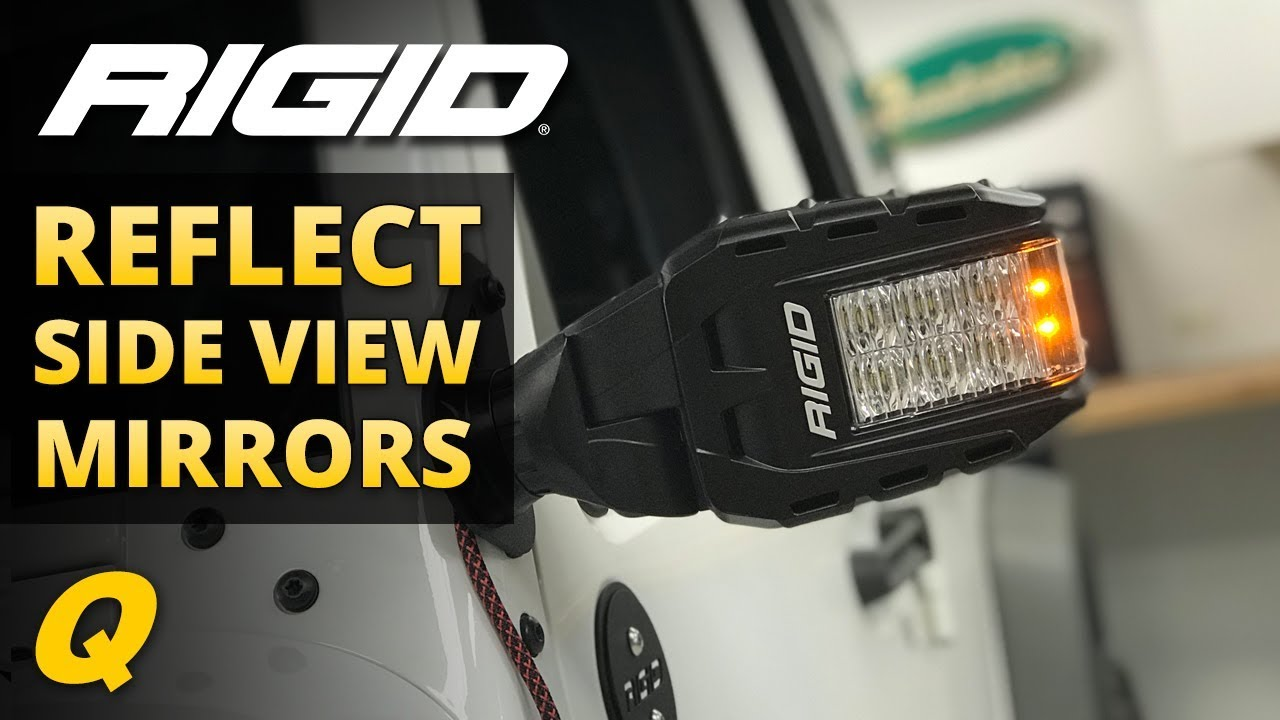 rigid lights wiring diagram rigid reflect side view mirrors review for 2007 2018 jeep wrangler  rigid reflect side view mirrors review
