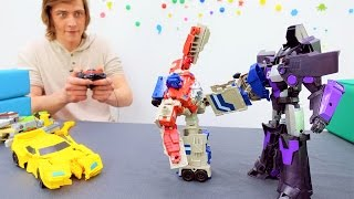 Трансформеры онлайн. Видео игры ! Битва Оптимуса с Мегатроном
