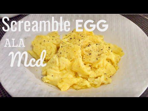 Cara Membuat Scramble Egg Ala Mcdonald's (Mcd) McD