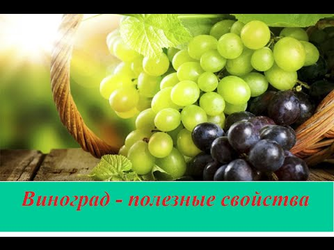 Виноград - полезные свойства и противопоказания