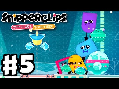 Snipperclips - Gameplay Walkthrough Part 5 - Party Mode! Cut It Out, Together! (Nintendo Switch)