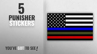 """Top 10 Punisher Stickers [2018]: """" PUNISHER SKULL STICKER & FLAG 2 PACK SET """" You Get ONE OF EACH"""