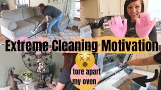 EXTREME CLEANING MOTIVATION | CLEAN WITH ME | CLEANING MY OVEN