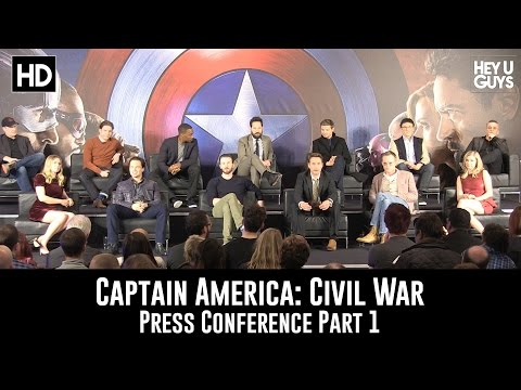 Captain America: Civil War Press Conference - Part 1