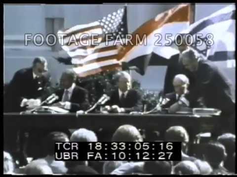 President Carter, Israel \u0026 Egypt Peace Treaty Signing 250058-06   Footage Farm