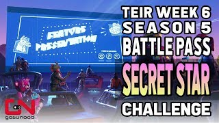 Fortnite Battle Pass Tier Week 6 Season 5 Secret Star Challenge