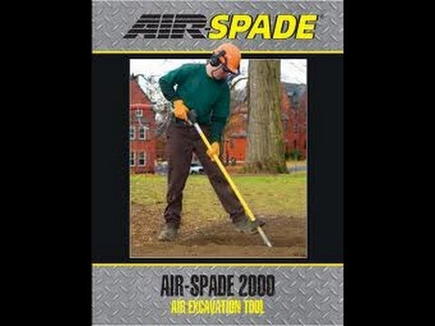 Air Spade 2000 Trenching Tool Youtube