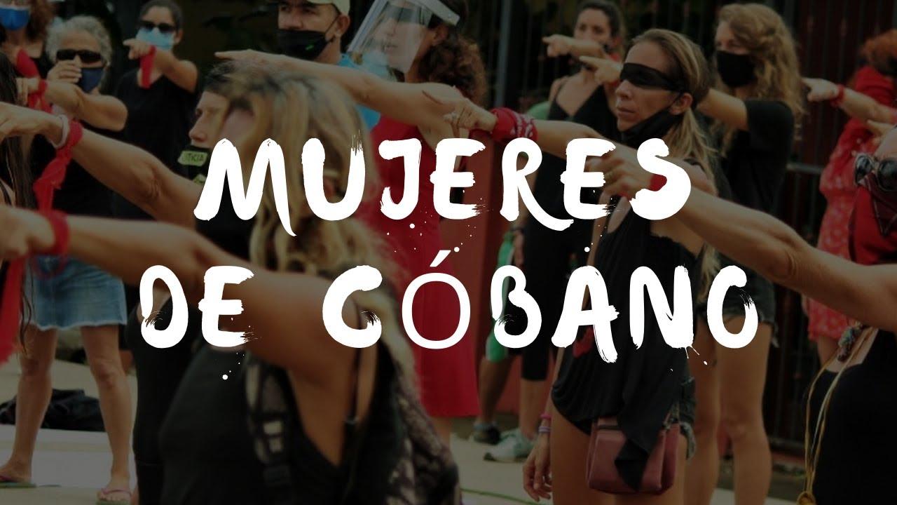 Mujeres de Cóbano protestando para exigir justicia ante la impunidad para femicidas y violadores
