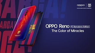 Oppo reno fc barcelona edition membawa dirimu lebih dekat ke permainan indah. #10xclosertogoal miliki teknologi 10x hybrid zoom dengan desain khas barcelo...
