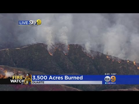 3,500 Acres Burn In Angeles National Forest Above Azusa And Duarte