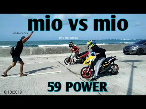 DRAG RACE Mio Vs Mio | Money Game - Moto Chock