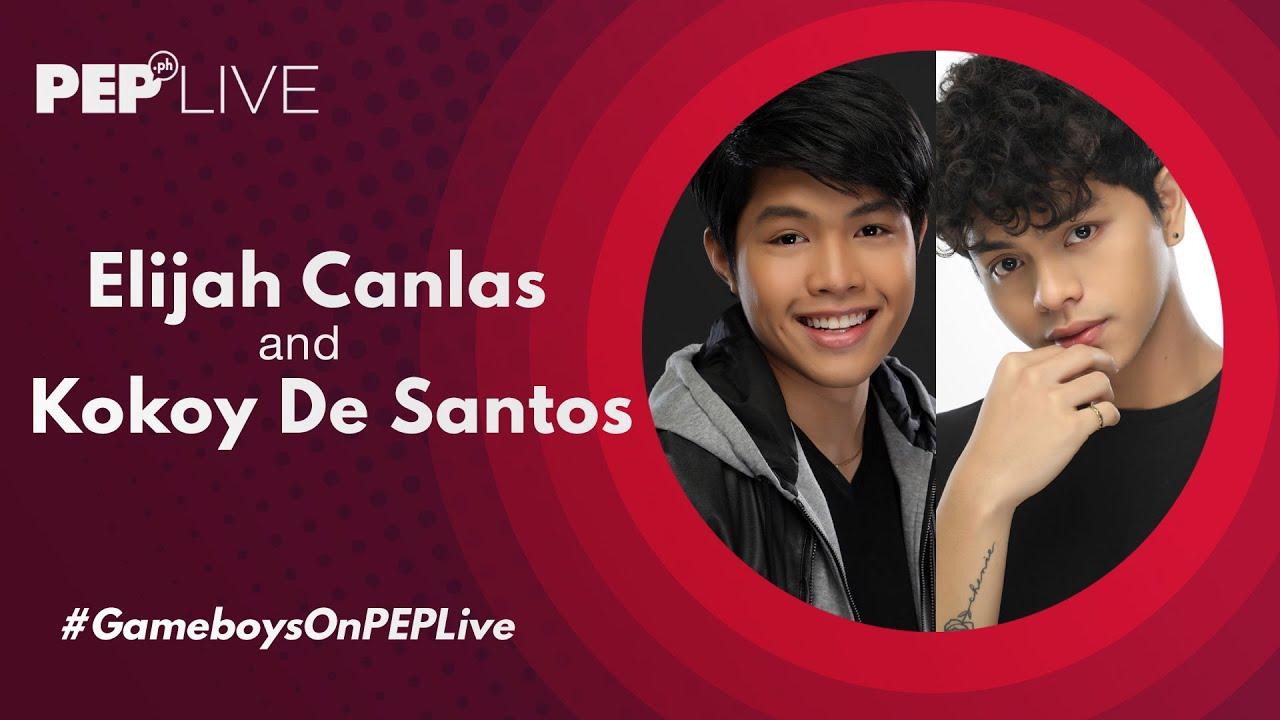 """Gameboys stars Elijah Canlas at Kokoy De Santos pinag-usapan ang kanilang """"kasal""""   PEP Live"""