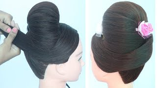 new updo hairstyle for wedding || new hairstyle for girls || ladies hair style || prom hairstyle