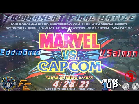 Marvel VS Capcom Arcade1Up Final Tournament Battle Promo from FightersEvo